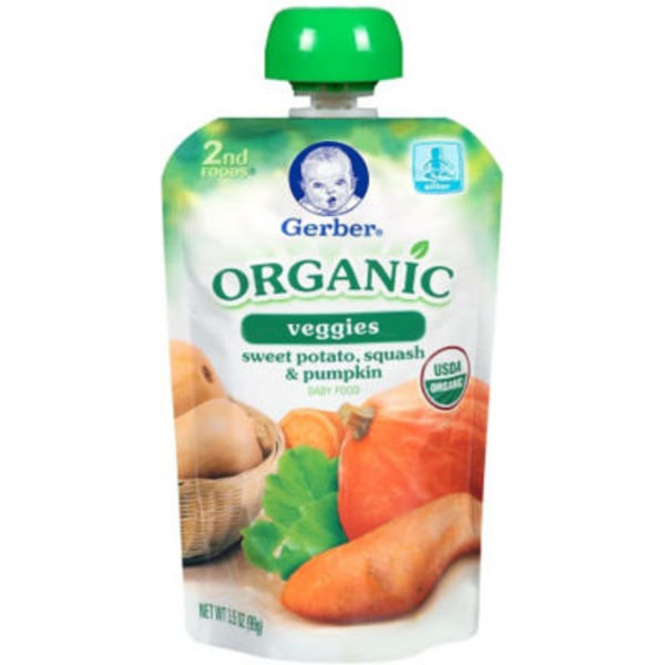 Gerber Organic 2 Nd Foods Organic Sweet Potatoes Squash & Pumpkin Baby Food