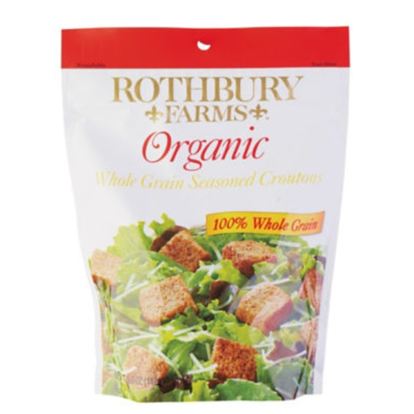 Rothbury Farms Organic Whole Grain Seasoned Croutons