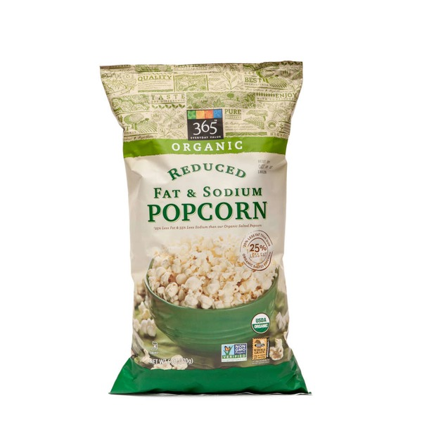 365 Organic Reduced Fat & Sodium Popcorn