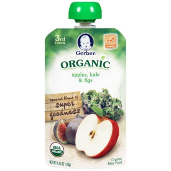 Gerber Organic 3 Rd Foods Organic Apples Kale & Fig Baby Food