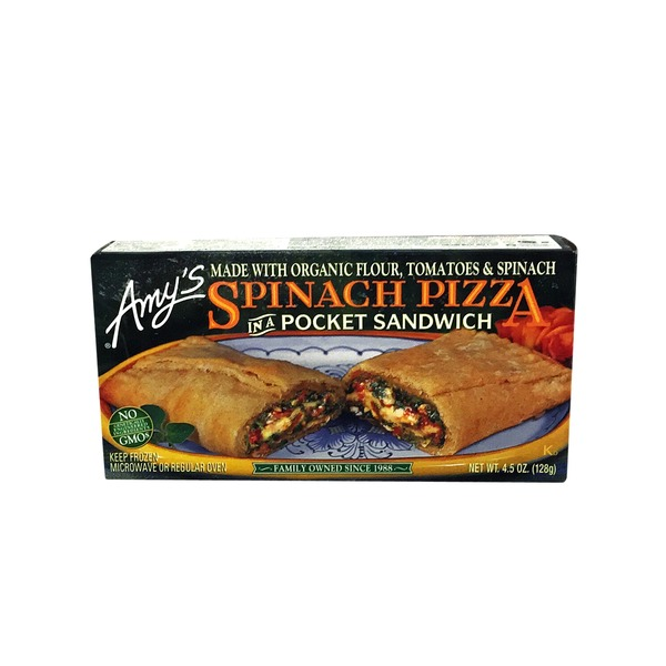 Amy's Spinach Pizza Pocket Sandwich