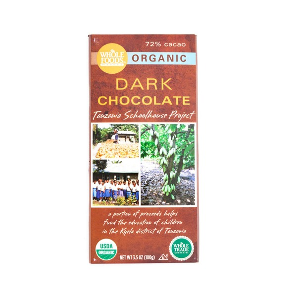 Whole Foods Market Organic Tanzania Dark Chocolate Bar