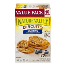 Nature Valley Breakfast Biscuits, Blueberry, 10 Pouches, 4-Bars Per Pouch, 1.77 OZ