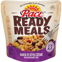 Pace® Ready Meals Santa Fe Style Steak with Black Beans & Rice, 9 oz., 9.0 OZ