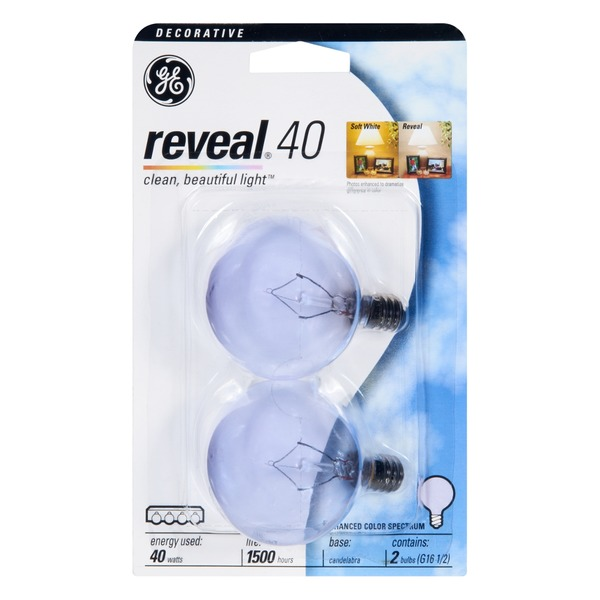 GE Reveal 40 Watt Decorative Light Bulb