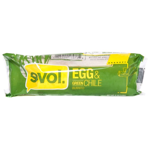 Evol Foods Egg & Green Chile Burrito