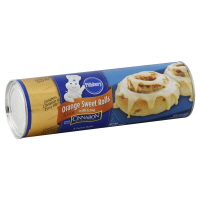 Pillsbury Cinnamon Rolls Cinnabon Orange Rolls With Orange Icing 8 Count