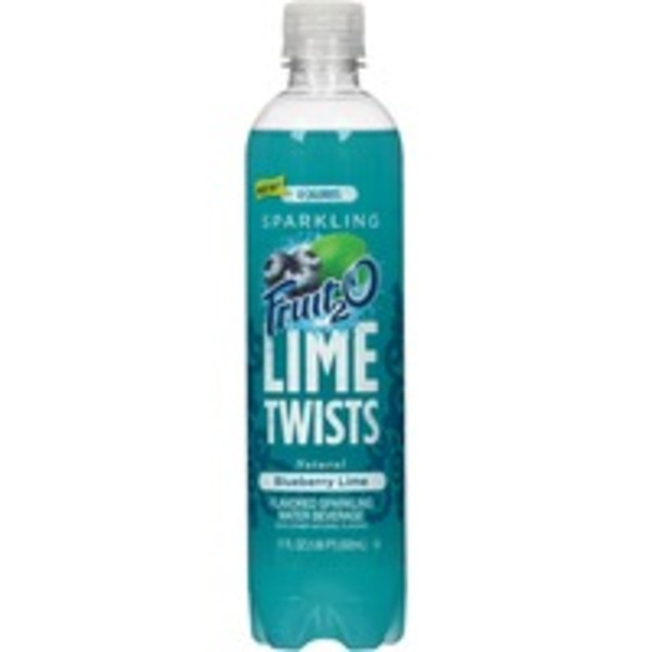 Fruit 2 O Lime Twists Natural Blueberry Lime Sparkling Water Beverage