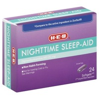 H-E-B Nighttime Sleep Aid Diphenhydramine Hci, 25mg Not For Treating Cold Or Flu