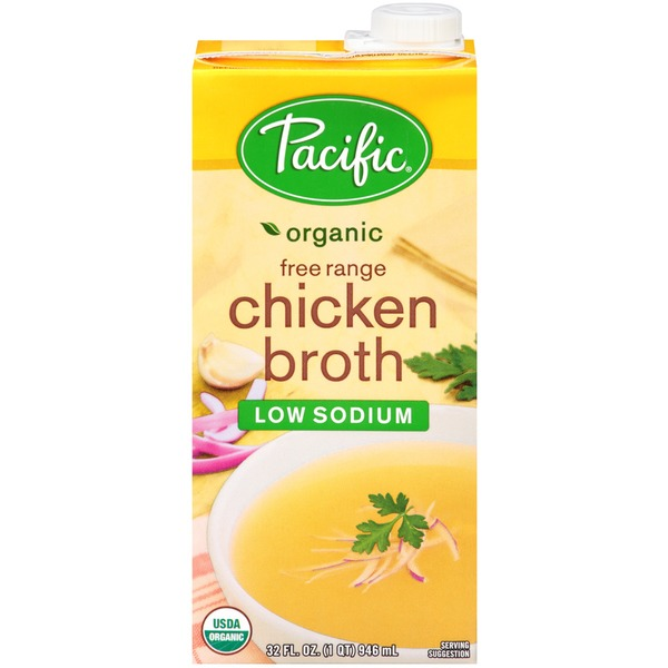 Pacific Organic Free Range Chicken Low Sodium Broth