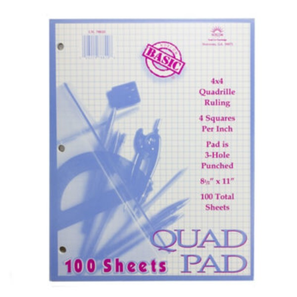 Norcom Quadrille Ruling 100 Sheet Pad