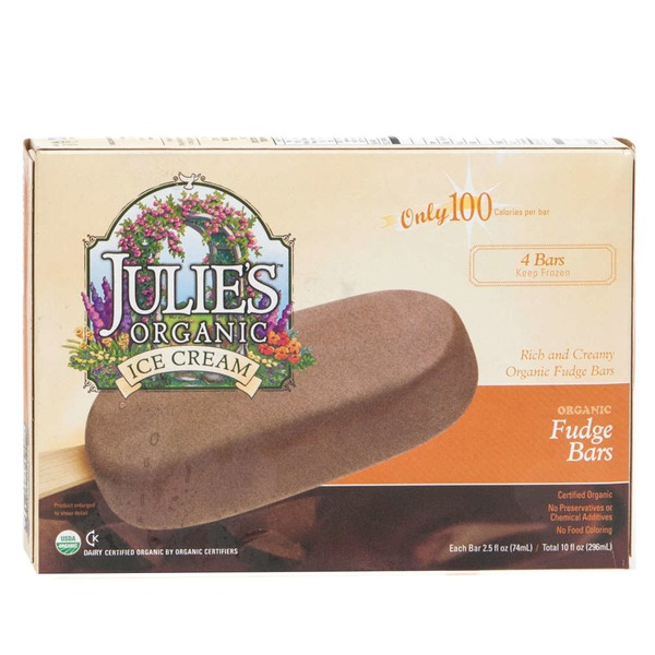 Julie's Julies Organic Ice Cream Fudge Bars - 4 CT