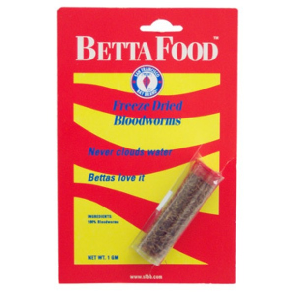 San Francisco Bay Coffee Betta Food Freeze Dried Bloodworms
