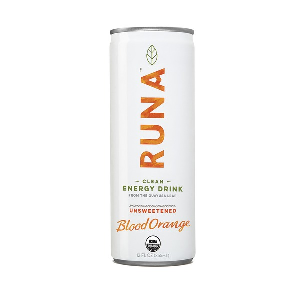 Runa Guayusa Beverage, Sparkling, Orange Passion