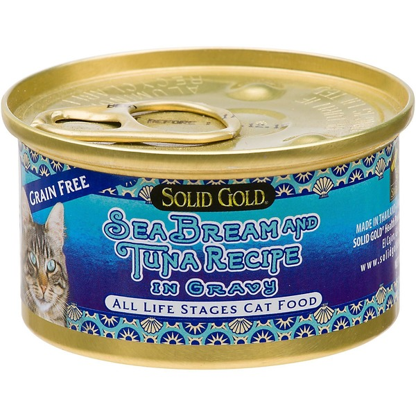Solid Gold Grain Free Sea Bream & Tuna In Gravy Canned Cat Food 3 Oz.