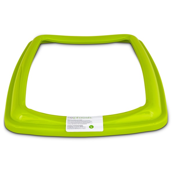 So Phresh Lime Green Large Open Litter Box Rim