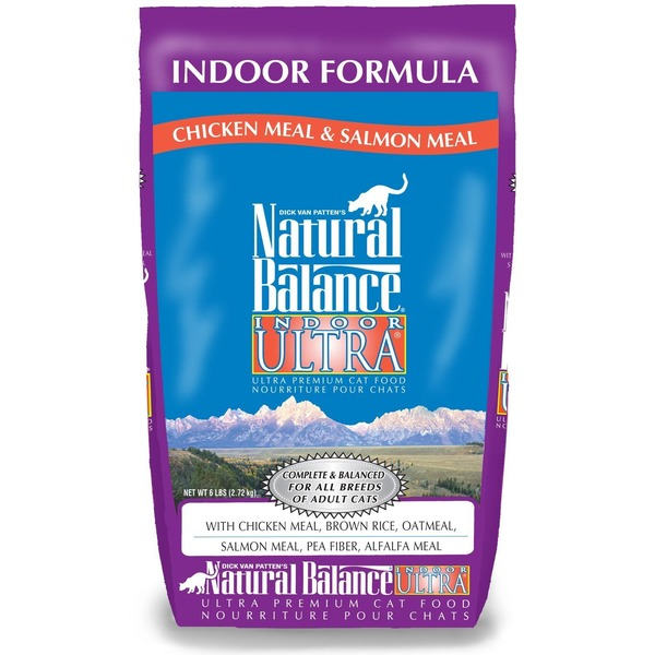 Natural Balance Indoor Formula Chicken Meal & Salmon Meal Indoor Ultra Premium Cat Food