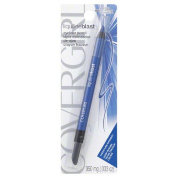 CoverGirl Liquiline Blast COVERGIRL LiquilineBlast Eyeliner Pencil, Blue Boom .033 oz (950 mg) Female Cosmetics