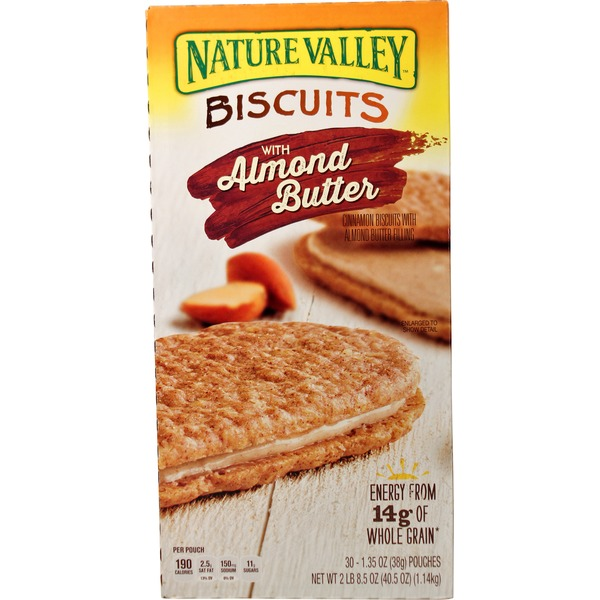 Nature Valley Cinnamon Biscuits With Almond Butter