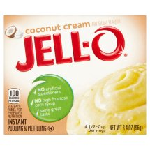 Jell-O Instant Pudding & Pie Filling Coconut Cream, 3.4 Oz