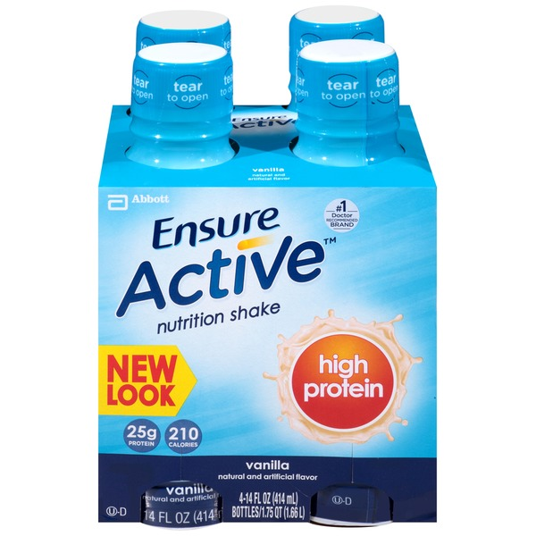 Ensure Plus Active High Protein Vanilla Nutrition Shake