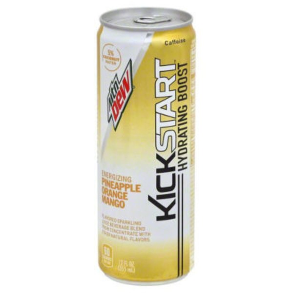 Mountain Dew Kickstart Pineapple Orange Mango