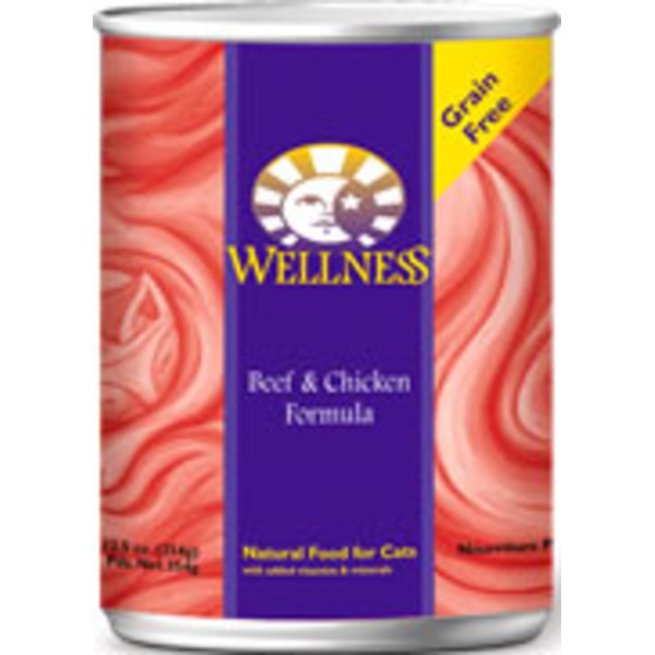 Wellness Adult Beef & Chicken Canned Cat Food
