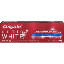 Colgate Optic White Whitening Toothpaste, Icy Fresh - 3.5 oz