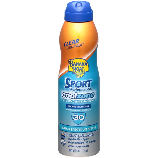 Banana Boat Sport Performance CoolZone UltraMist Clear Broad Spectrum SPF 30 Sunscreen