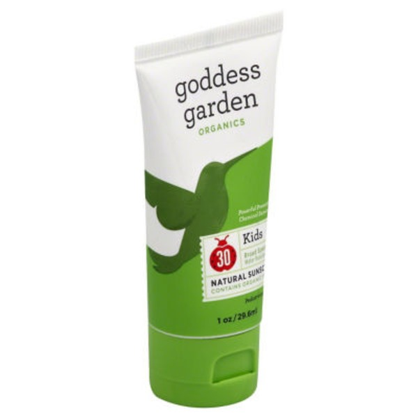 Goddess Garden Sunscreen, Natural, Kids, 30, Organics, Tube