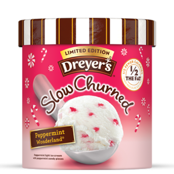 Dreyer's Slow Churned Light Peppermint Ice Cream Limited Edition