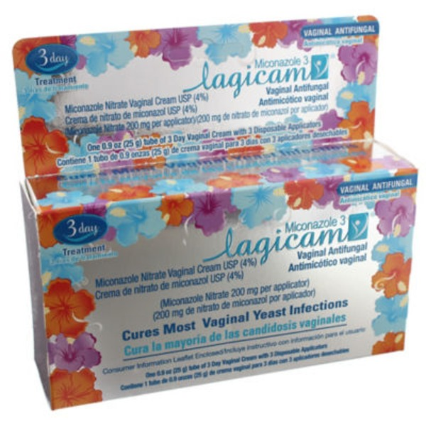Lagicam 3 Day Vaginal Antifungal Treatment Cream