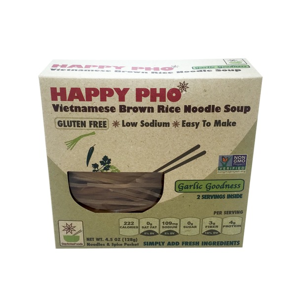 Happy Pho Gluten-Free Garlic Goodness Vietnamese Brown Rice Noodle Soup
