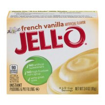 Jell-O Instant Pudding & Pie Filling French Vanilla, 3.4 Oz