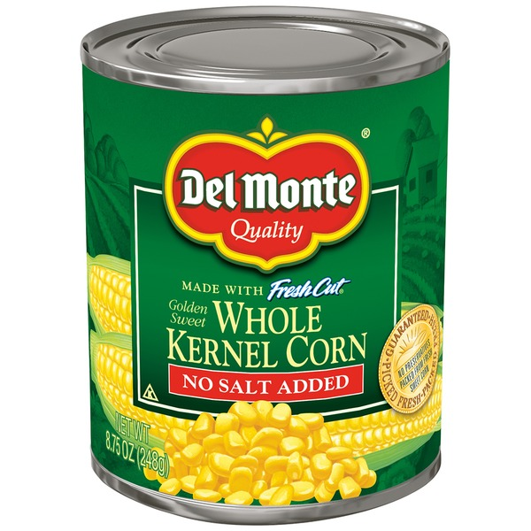 Del Monte Fresh Cut Golden Sweet No Salt Added Whole Kernel Corn