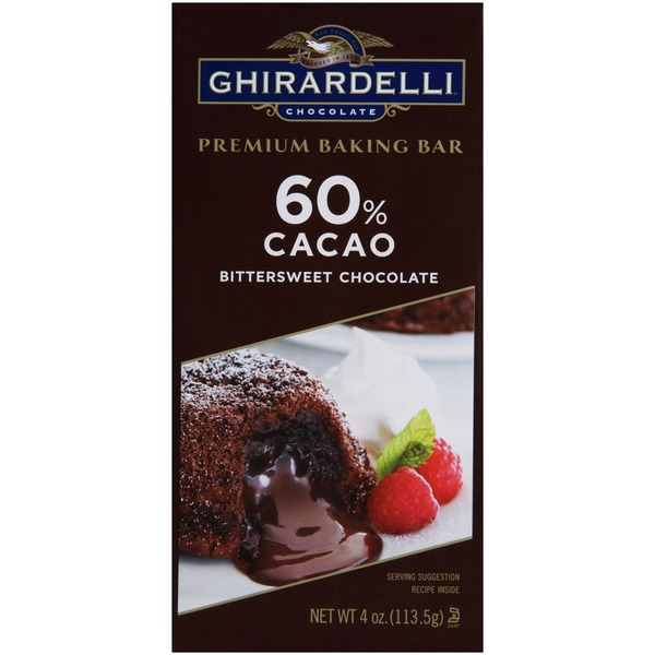 Ghirardelli Chocolate 60% Cacao Bittersweet Chocolate Premium Baking Bar