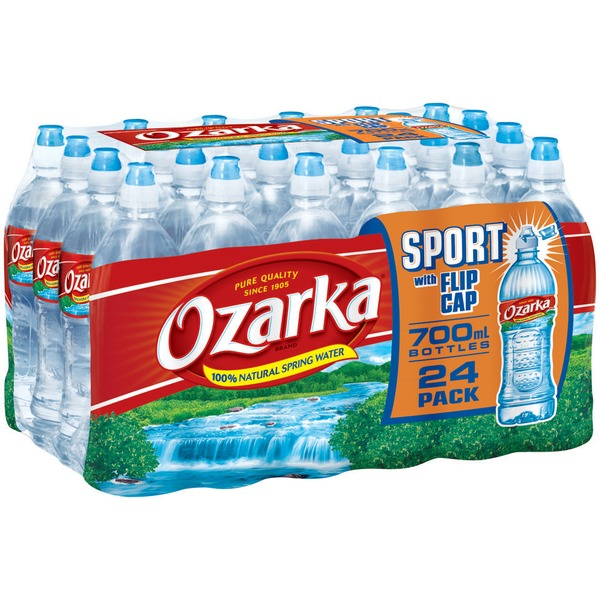 Ozarka Sport Bottle with Flip Cap Natural Spring Water