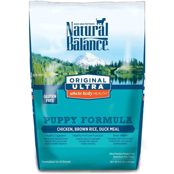 Natural Balance Puppy Food, Ultra Premium, Puppy Formula, Chicken, Brown Rice, Duck Meal