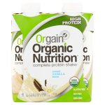 Orgain Organic Shake, 16 Grams of Protein, Vanilla Bean, 11 Oz, 4 Ct