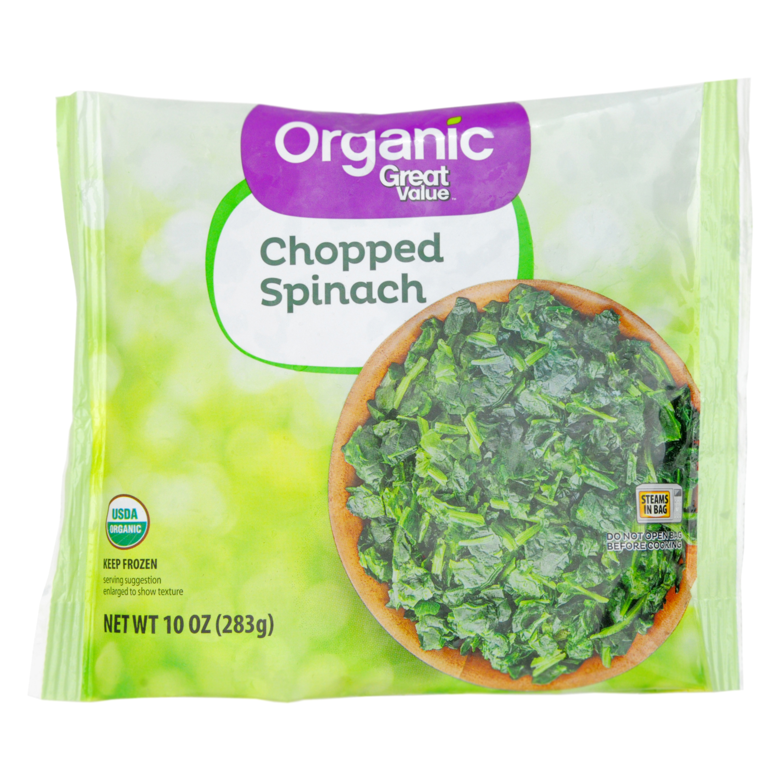 Great Value Organic Chopped Spinach