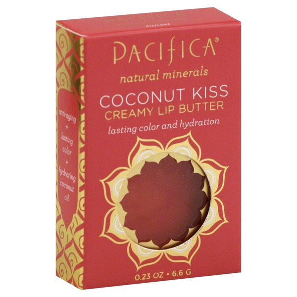 Pacifica Lip Butter, Creamy, Coconut Kiss, Sunset