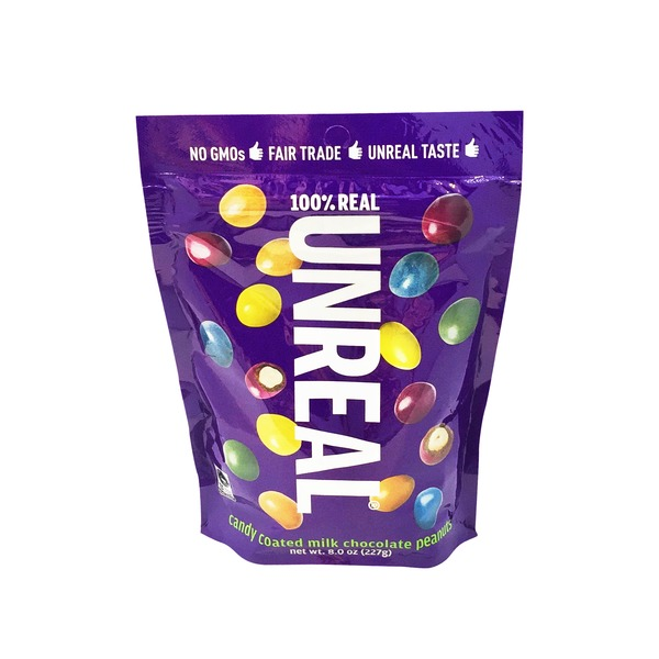 UnReal Brands Candy Coated Milk Chocolate Peanuts