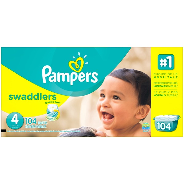 Pampers Swaddlers Pampers Swaddlers Diapers Size 4 104 count Diapers