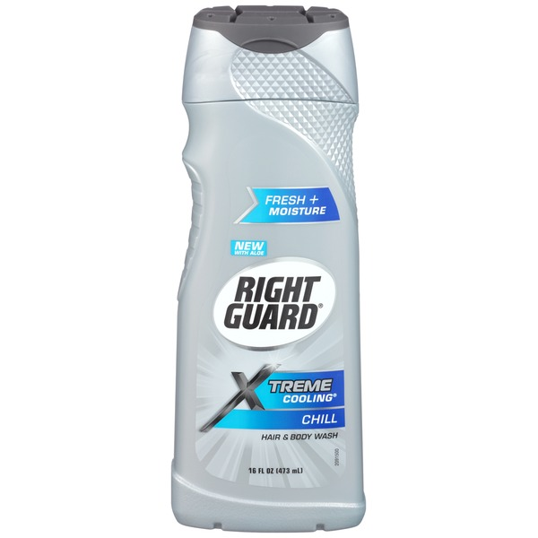 Right Guard Xtreme Cooling Chill Deodorizing Hair & Body Wash