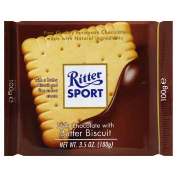 Ritter Sport Milk Chocolate With Raisins & Hazelnuts