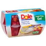 Dole Mixed Fruit in Cherry Gel, 4.3 oz, 4 pack