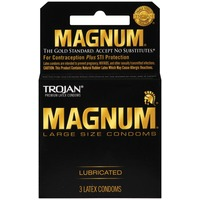 Trojan Large Size Lubricated Condoms Magnum