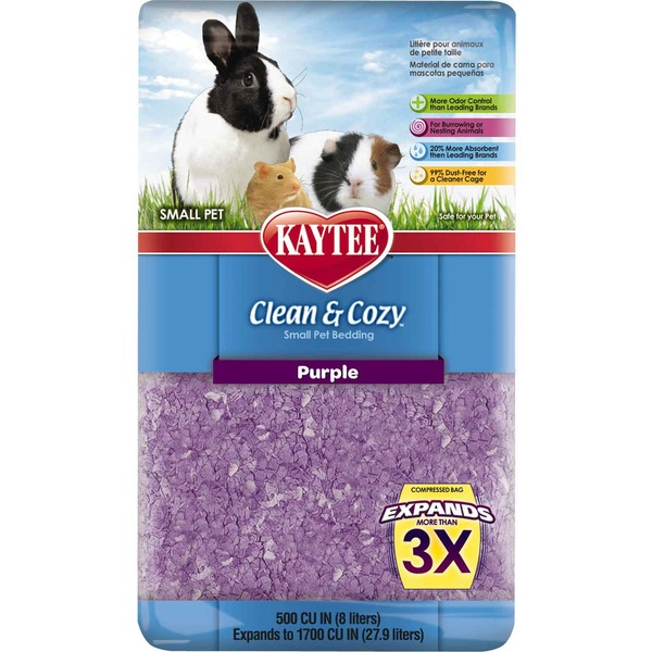 Kaytee Clean & Cozy Purple Small Animal Bedding 500 Cu. In.