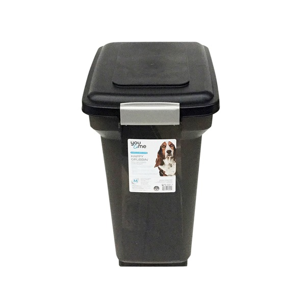 You And Me Medium Strength Black 2/8 Lb. Trash Can