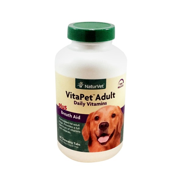 NaturVet VitaPet Adult Multi-Vitamins Chewable Tablets